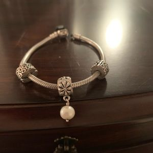 Authentic Pandora Pearl Charm